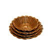 plastic PP rattan bread basket for display