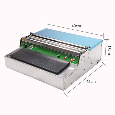 manual food packing machine with cling film