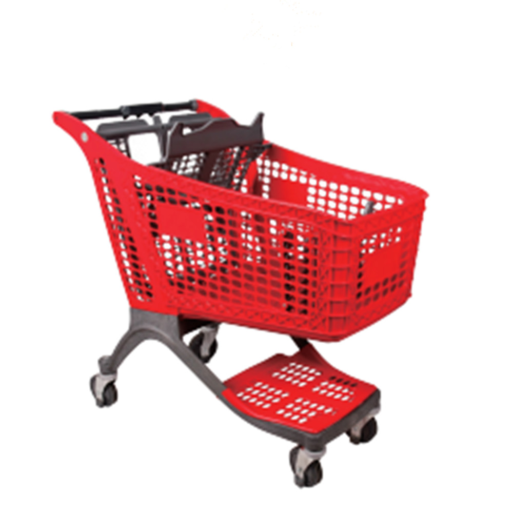 175L plastic shopping trolley for supermarket