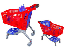 135L plastic shopping carts for supermarket